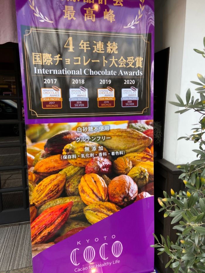 COCO KYOTO 国際チョコレート大会の受賞歴