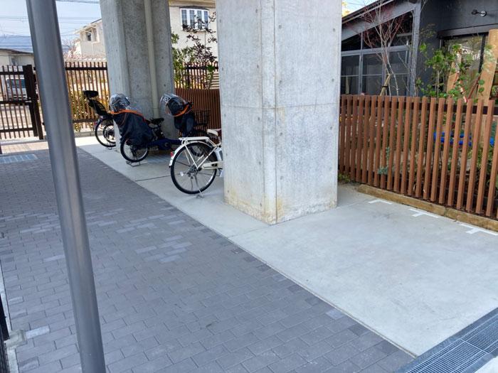 洛西口ガタゴトに隣接する駐輪所