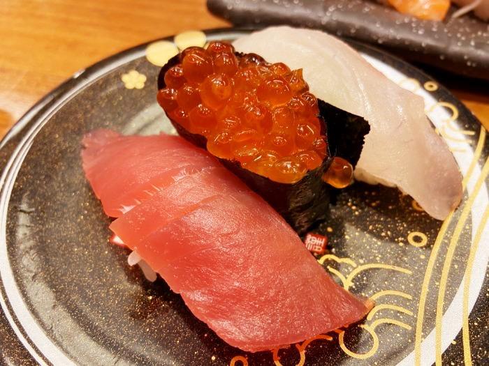 もりもり寿司 人気3点盛り