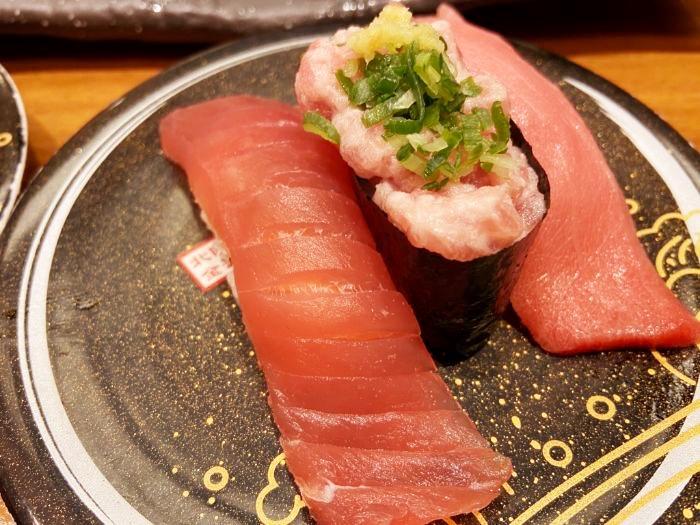 もりもり寿司 まぐろ3点盛り